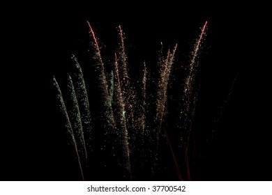 Large Fireworks Show In The Night