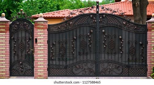 large forged gates