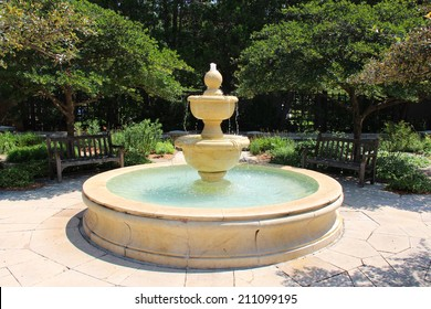 Large fountain in a park