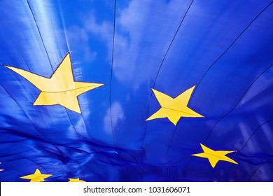 A large fragment of the flag of the European Union