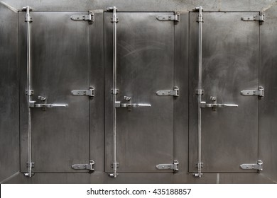 A large freezer for industrial or commercial kitchens.