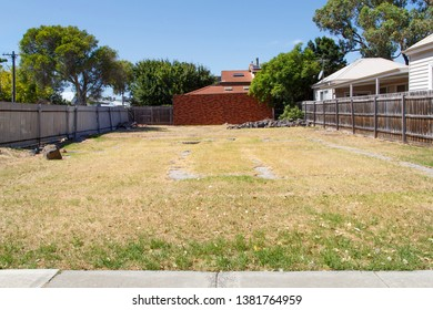 Large garden area to be sold on as a building plot. Vacant land available for building is very expensive in the Melbourne suburbs.