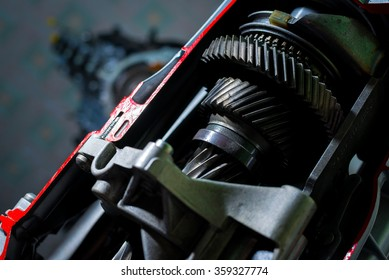 Large gears in the gearbox