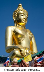 Large golden Buddha center of the golden triangle Chiang Rai Thailand