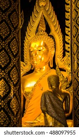 Large golden buddha images in thailand