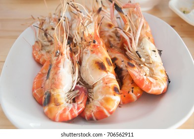 Large grilled shrimp.
