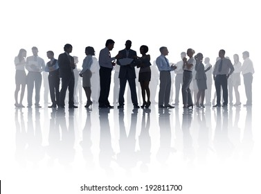 Large Group of Business Meeting