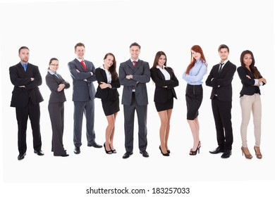 Large group of business people. Isolated on white
