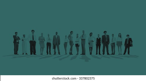 Large group of Business people Standing Concept