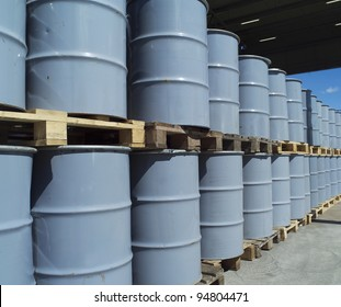Large group of Oil Drums
