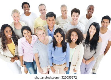 Large Group People Healthy Happiness Togetherness Concept
