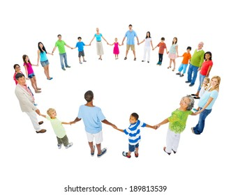 Large Group of People Holding Hand