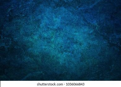 Large grunge textures and background-blue abstract wall background.
