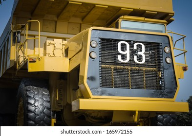 Large haul truck ready for big job in a mine. Low saturation and