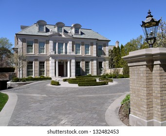 large house with gate