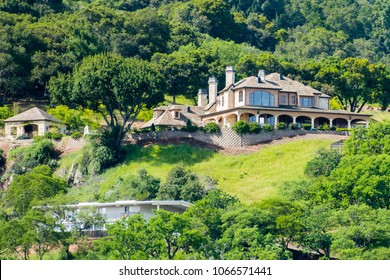 Large house in the hills of south San Francisco bay area, San Jose, Santa Clara county, California