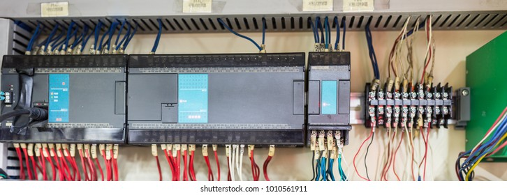 large industrial control cabinet
