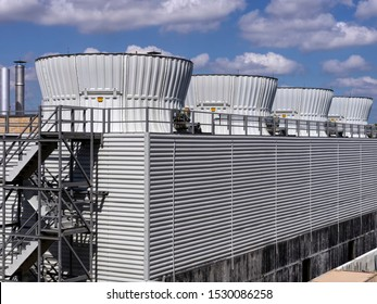large industrial cooling towers for HVAC system