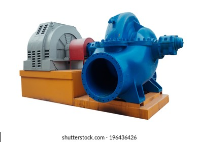 Large industrial heating water pump