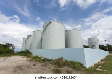 Large Industrial tanks for petrol and oil