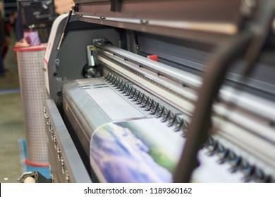 Large inkjet printing machine.
