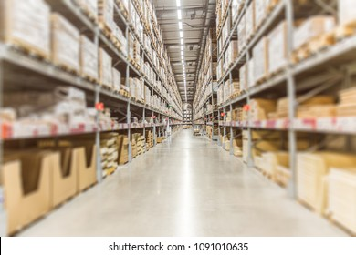 Large Inventory. Warehouse Goods Stock for Logistic shipping banner background.