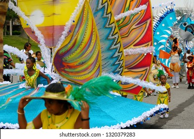 Large Island float Queen of the Band at the Junior Caribana Parade in Toronto, Ontario, Canada - July 19, 2008