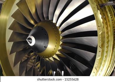 large jet engine turbine blades