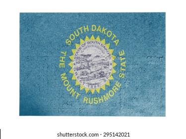 Large jigsaw puzzle of 1000 pieces - flag - South Dakota