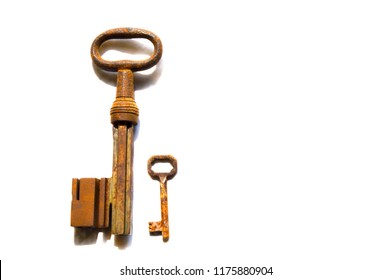 a large key besides a much smaller one