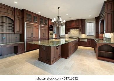 Large kitchen in new construction home