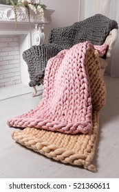 Large knit blanket s, giant knit blanket, super chunky yarn, arm knitting