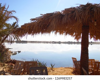 Large lake in the oasis of Siwa Egypt