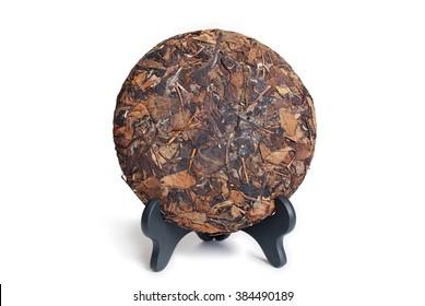 Large leaf pressed Chinese sheng raw pu-erh tea