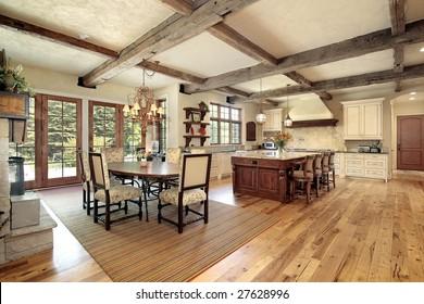 Large luxury rustic kitchen
