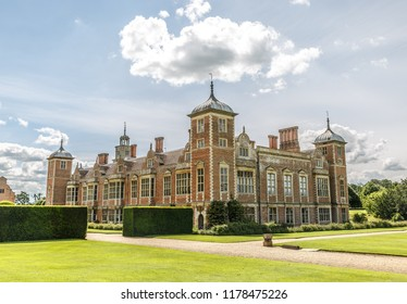 Large manor house Blickling Hall in the village of Blickling north of Aylsham in the county of Norfolk, England, United Kingdom