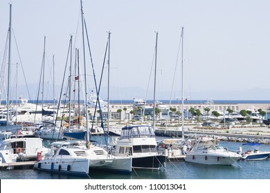 Large Marina with luxury yachts and boats
