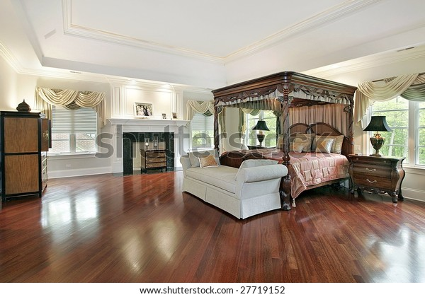 Large Master Bedroom Fireplace Stock Photo (Edit Now) 27719152