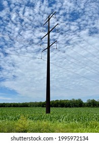 Large Metal Power Line Tower