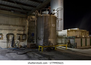 A large mixing tank in an old manufacturing plant in the inner western industrial suburbs of Melbourne, Australia.