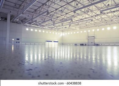 Large modern empty industrial premises