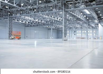 Large modern empty storehouse