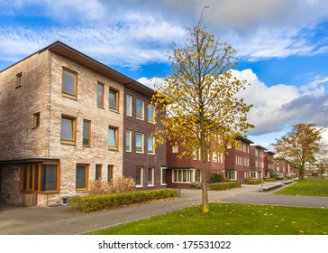Large Modern Middle Class Suburban Houses in Europe