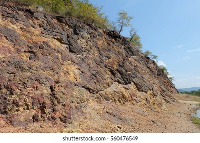 a large natural elevation of the earth's surface rising abruptly from the surrounding level