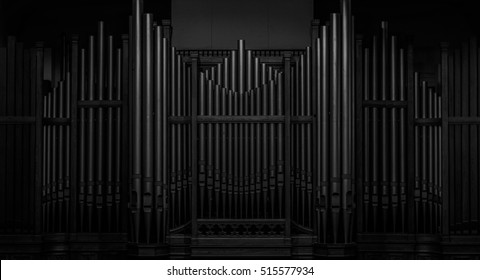 A large nineteenth century Pipe Organ located in an old Methodist church,
