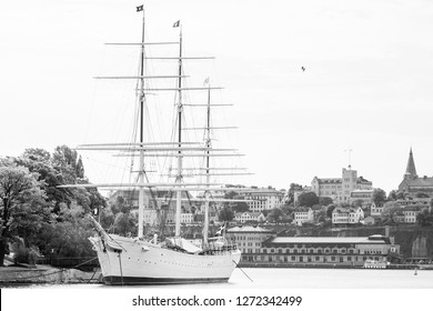 Large old sailboat