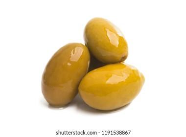 large olives isolated on a white background