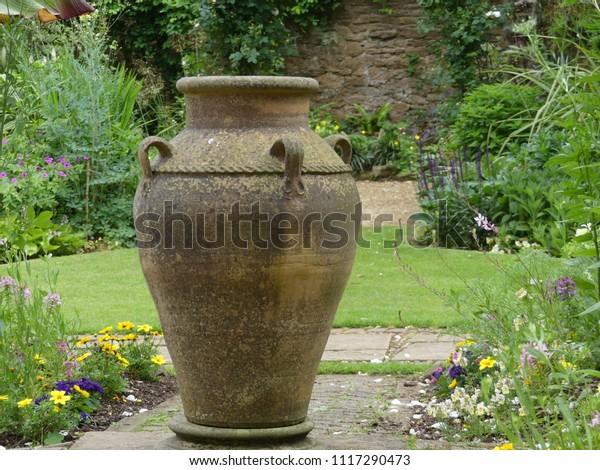 Large Ornamental Garden Planter Vase Set Stock Photo Edit Now 1117290473