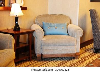 Large overstuffed armchair