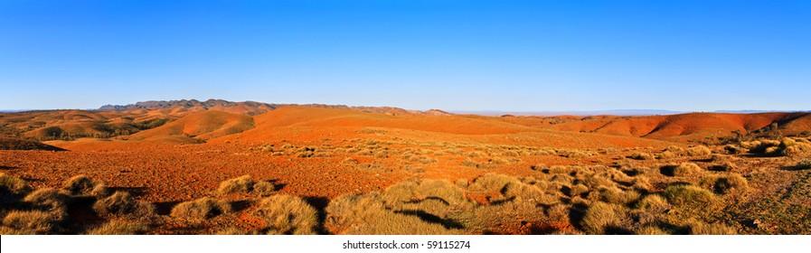 Large panorama of Australian Flinders ranges